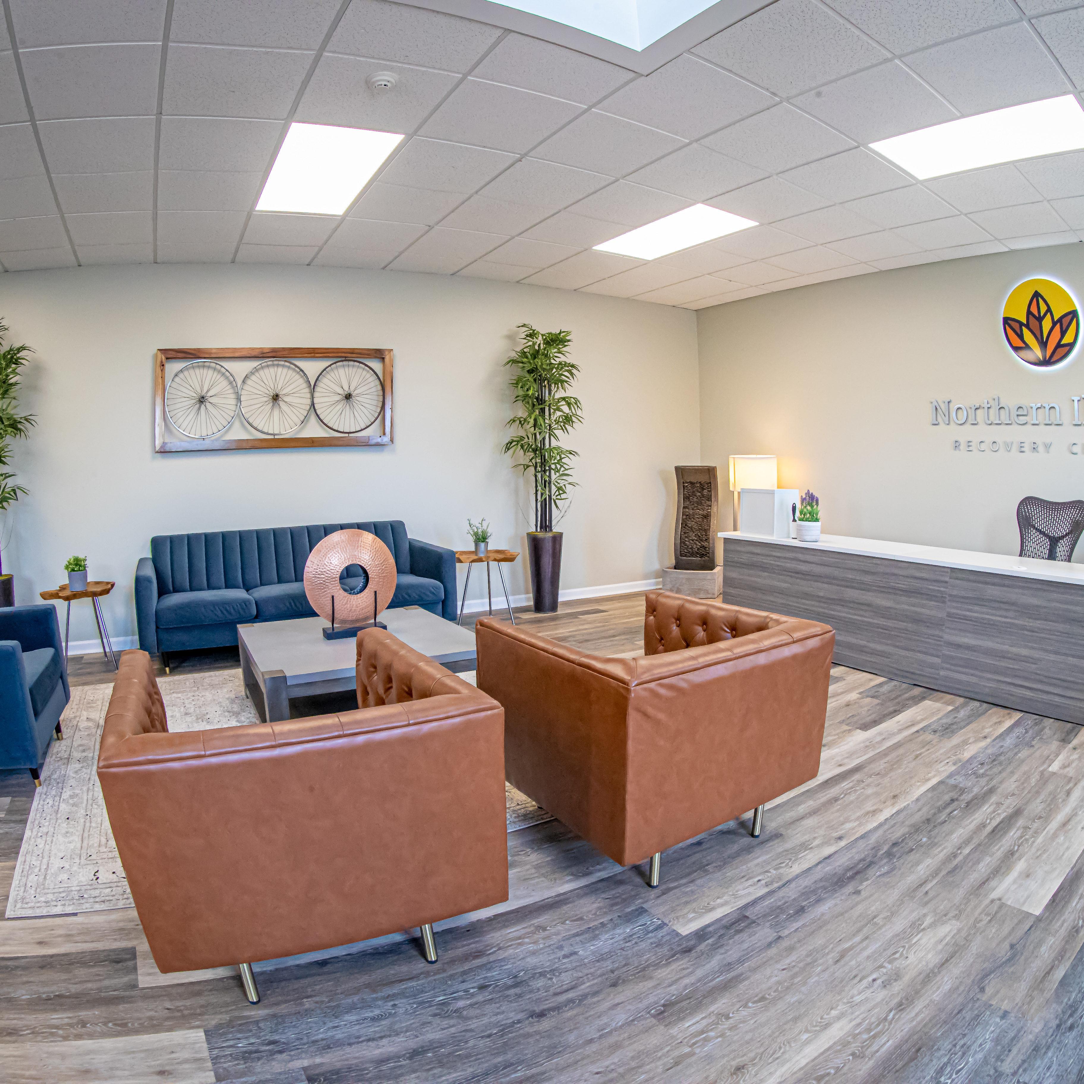 Northern illinois recovery facility lobby