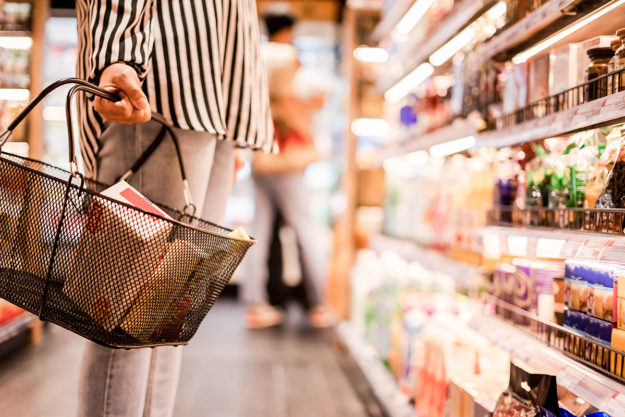 woman in grocery thanks to life skills training program