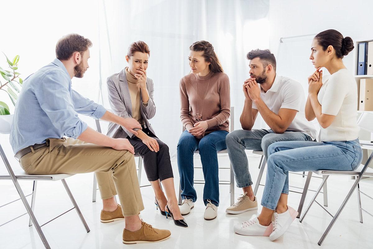 a group leader explaining how does aa help