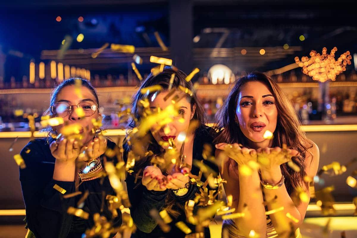 women celebrating new years