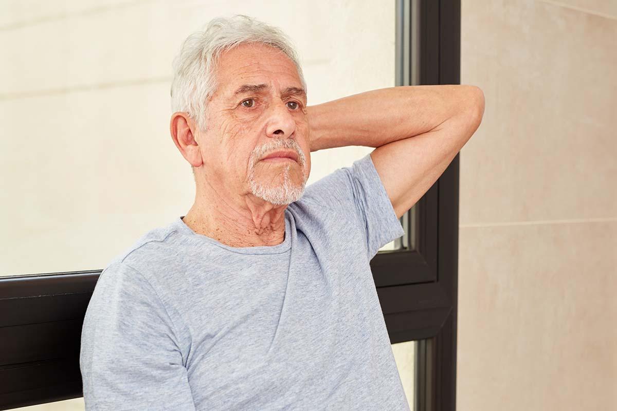 Man Contemplating Starting Rehab Program