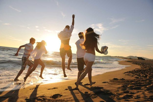 people are happy to have a sober vacation